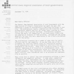 1979 Central Iowa Regional Association of Local Governments 1 of 2