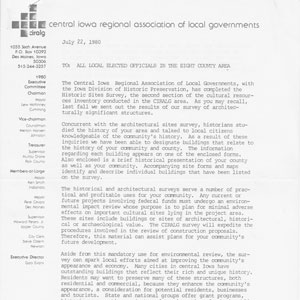 1980 Central Iowa Regional Association of Local Governments 1 of 4