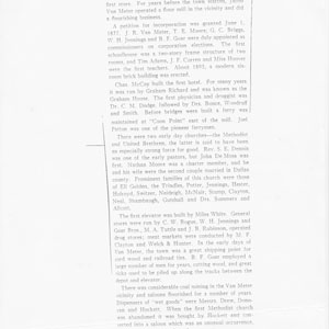 History of Van Meter formely known as Tracy page 1 of 2