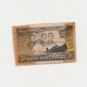 Immortal Chaplains 3 cent stamp