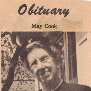 May Cook Obituary 1967