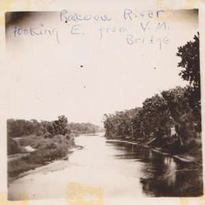 Raccoon River looking east from Van Meter bridge