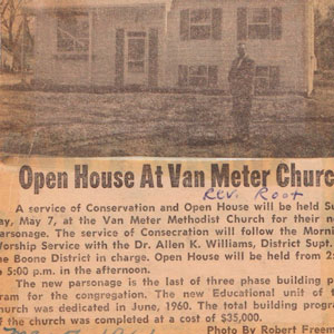 Van Meter Methodist Church 1961 parsonage
