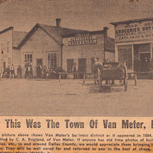 Van Meter Businesses District 1884